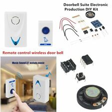 LED Wireless Chime Door Bell Doorbell & Wireles Remote control 32 Tune Songs RN
