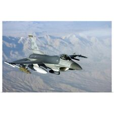 Poster Print Wall Art entitled A US Air Force F-16C Fighting Falcon in flight