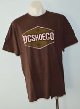 DC Shoes Mens Printed T Shirt - BROWN  - SIZE - LARGE - NEW