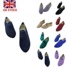 Women Suede Ballet Dolly Flats Loafers Slip On Pointed Toe Casual Boat Shoes
