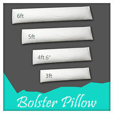 100% Cotton Luxury & Down Long Pillow Duck Feather Extra Filled Bolster All Size