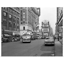 Poster Print Wall Art entitled 1950's New York City Times Square Traffic