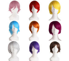 New Men Handsome Short Straight Anti-alice Color Toupee Full Wigs Cosplay Party