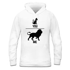 Cat And Lion You And Me Women's Hoodie