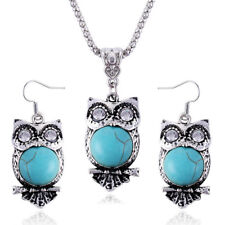 Vintage Ethnic Style Owl Ancient Silver Tibetan Jewelry Sets 2017 New Women