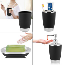 4Color Bathroom Accessories Set Cup +Toothbrush Holder +Soap Dish +Dispenser