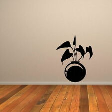 Plant Pot Floral  Big Vinyl Wall Transfer Large Flower Wall Stickers RA137