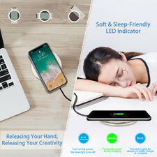 Qi Fast Wireless Charger Portable Charging Pad Stand For Samsung Galaxy iPhone 8