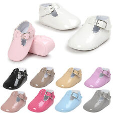 Infant Newborn Baby Girl Faux Leather Crib Shoes Soft Sole Prewalkers Trainers