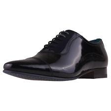 Ted Baker Karneyh Mens Black Navy Patent leather Shoes