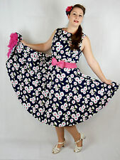 NEW Vintage 50's Rockabilly Housewife Style Daisy Swing Circle Dress