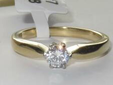 TK3440 Solitaire Simulated diamond ring gold stainless steel pretty engagement