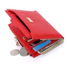 Women Slim Zippered Wallet Thin PU Leather Coin Purse Female Mini Clutch 4 Color