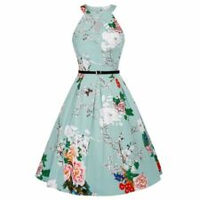 Women Summer Halter Vintage Style Casual Party Knee-length Dress