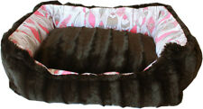 Mirage Reversible Bumper Coral Feathers Dog Bed