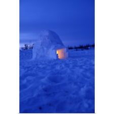 Poster Print Wall Art entitled Canada, Manitoba, Churchill. Arctic igloo with