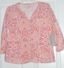 ALLYSON WHITMORE  STRETCH KNIT TOP SIZE  PL PINK  NWT