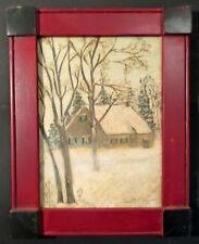1958 DAVID Y. ELLINGER Pennsylvania Dutch OIL PAINTING Folk Art PHILADELPHIA PA