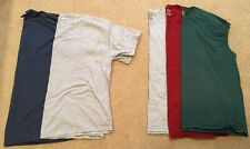 Lot Of 5 Men's Tee Shirts T-shirts / Sleeveless Muscle Size 3XL Fruit of Loom