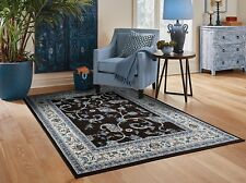 Traditional Area Rugs 8x10 Gray Rugs For Living Room 5x7 Black Carpet 8x11