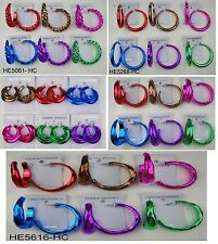 Wholesale Jewelry lots 6 pairs fashion color hoop earring  TTD