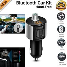 Wireless Bluetooth FM Transmitter Modulator Car MP3 Player Dual USB Charger US