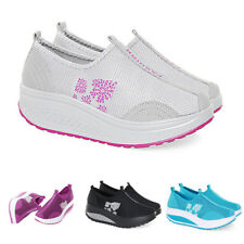 Women Shape Platform Shoes Casual Walking Sneaker Running Athletic Ups Fitness