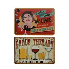 Bar/Pub/Hotel Wall Metal Tin Sign Beer And Wine  Decor Metal Sign Vintage Home