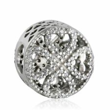 authentic sterling silver Mixed AAA CZ Crystal Stone Charm Bead Fine Silver Bead