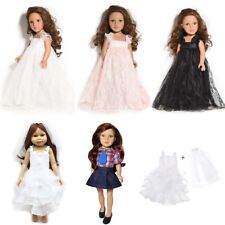 """Born Doll Party Outfit Doll Lace Dress 18"""" American Girl White Wedding Clothes"""