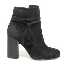 Italian designer Suede Leather Ankle Boots in Black (CLEARANCE STOCK)