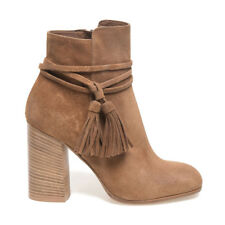 Italian designer Suede Leather Ankle Boots in Cognac (CLEARANCE STOCK)