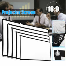 60''/70''/84''/100''/120'' Projector Screen 16:9 Home Cinema Theater Projection
