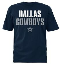 Dallas Cowboys NFL Men's Team Logos Navy Short Sleeve Graphic T-Shirts: M-2XL