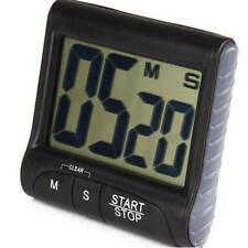 Large LCD Digital Kitchen Timer Count-Down Up Clock Loud Alarm Black Red Blue