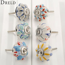 DRELD 40mm Furniture Handle Ceramic Drawer Cabinet Knobs and Handles Knobs Door