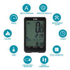 Wireless/Wired Bicycle Computer Digital LCD Bike Cycling Speedometer Stopwatch