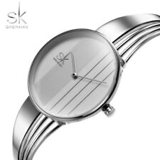 SK Luxury Crystal Women Watch Leather Band Analog Quartz Bracelet Wrist Watch