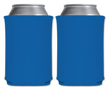 Cerulean Blue Blank Foam Can Coolers Beverage Insulator Pack Custom Party Favors