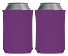 Grape Purple Blank Foam Can Coolers Beverage Insulator Packs Custom Party Favors