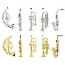 Mini Electroplated ABS Kids Music Instrument Saxophone Trumpet French Horn Toys