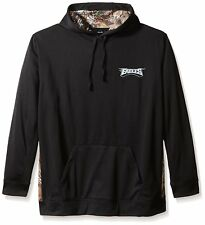 Philadelphia Eagles NFL Men's Black Realtree Camo Hooded Pullover Sweatshirts: L