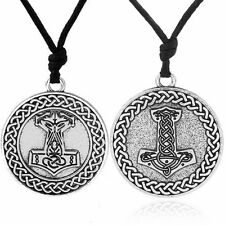 Thor Hammer Pendant Viking Jewelry Knot Thors Mjolnir Ethnic Necklace Vintage
