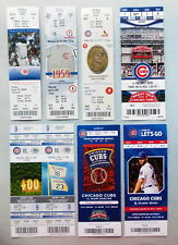 2004 to 2015 CHICAGO CUBS Baseball - Regular & World Series - TICKET STUB SETS