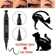 Nice 2in1 Dual-ended Eyeliner Pen With Stamp Seal&Cat Eyeshadow Template Card