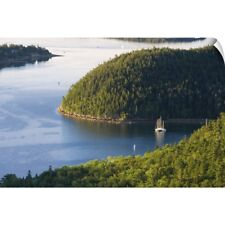 Wall Decal entitled Sailboats moored in Valley Cove, Acadia National Park. Maine