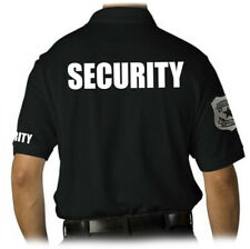 MEN'S PRINTED SECURITY EMBROIDERY BADGE POLICE STAFF UNIFORM COLLAR POLO T-SHIRT