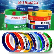 2018 World Cup Country Flag Silicone Bracelet Rubber Sport Wrist band Wristband
