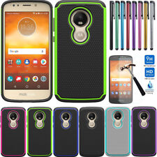 Hybrid Shockproof Case Hard Armor Cover For Motorola Moto E5 Play/Cruise/Plus