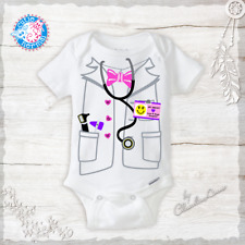 Doctor or Nurse Costume Onesie Funny Baby Girl Clothes Baby Shower Gifts Newborn